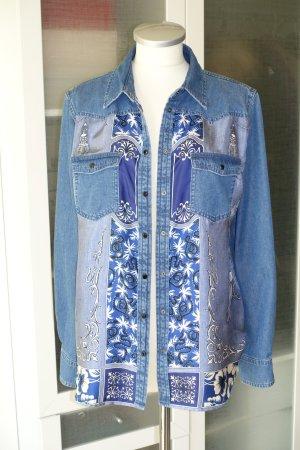 Etro Denim Shirt steel blue cotton