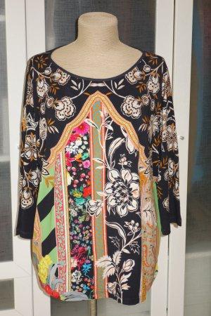 Org. ETRO Stretch Sweatshirt/Shirt mit multicolour Print Gr.38/40