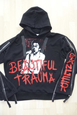 "Org. FAITH CONNEXION oversized Hoodie ""Beautiful Trauma"" mit Zip-Sleeves Gr.M sold out"