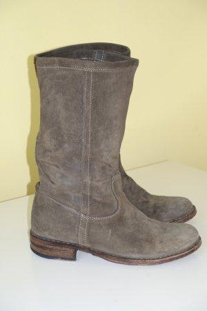 Org. FIORENTINI + BAKER Halbstiefel/slouch boots aus Veloursleder in dunkelbraun Gr.37