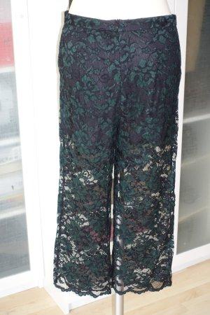 Ganni 7/8 Length Trousers black-dark green