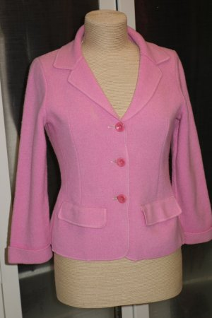 Org. GEORG MAIER Strick-Jacke aus Wolle in rosa Gr.S