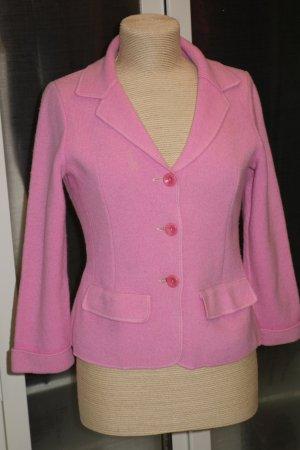Org. GEORG MAIER Strick-Jacke aus Schurwolle in rosa Gr.S