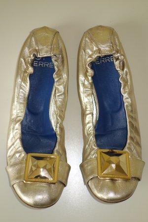 Gianfranco Ferré Ballerinas gold-colored leather