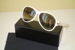 Org. GIVENCHY oversized Aviator Sonnenbrille creme/silber inkl.Etui