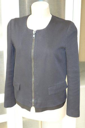 Org. GOLDEN GOOSE Kasten-Jacke in dunkelblau mit Reissverschluss Gr.38