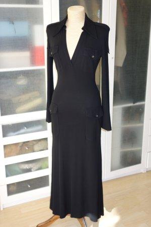 Org. GUCCI Jersey Abendkleid/Maxikleid in schwarz Gr.36