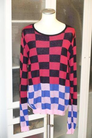 Org. HAIDER ACKERMANN oversized Pullover mit breitem Karomuster Gr.XS-L