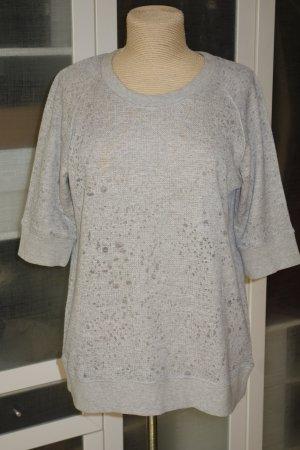Org. IRO distressed Sweatshirt mit 3/4-Ärmel in grau Gr.L