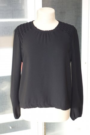 Org. ISABEL MARANT Bluse mit gesmokten Details in schwarz Gr.40