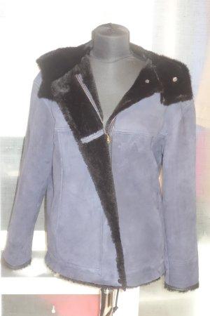 Org. ISABEL MARANT Lammfell-Jacke in dunkelblau/schwarz Gr.38 NEU+Etikett