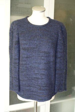 Org. ISABEL MARANT Pullover aus Woll-Bouclé in dunkelblau Gr.38