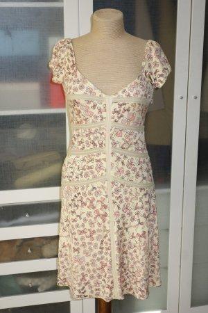 Org. ISSA London Jersey Kleid aus Seide mit Schleifen-Print Gr.36