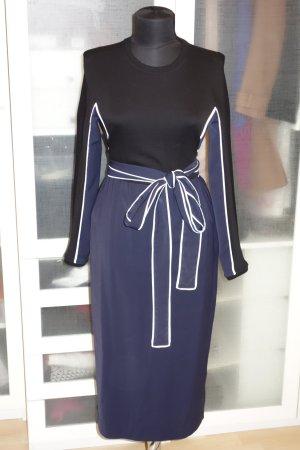 Org. ISSA Wickel-Kleid mit Materialmix Gr.36