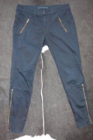 Org. J BRAND Agnes skinny Biker Hose in dunkelblau Gr.28