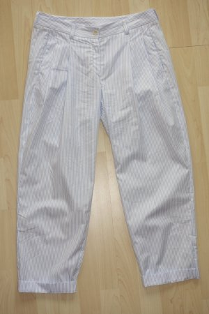 Peg Top Trousers white-light blue cotton