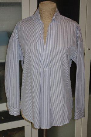 Org. JEJIA oversized Tunika-Bluse mit Nadelstreifen Gr.34/36