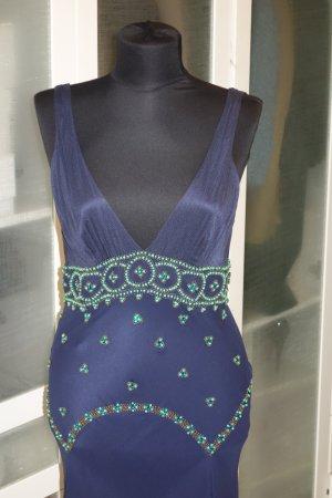 Org. JENNY PACKHAM Abendkleid/gown aus Seide bestickt Gr.38