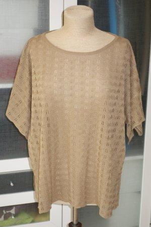 Org. JUCCA oversize Strick-Shirt in sandbraun/gold - zimt Gr.M/L