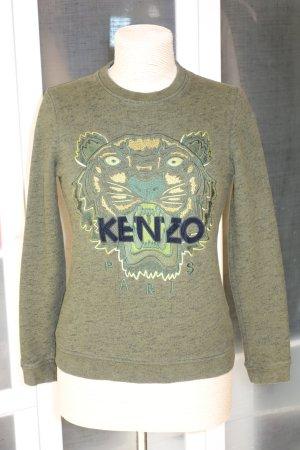 Org. KENZO Tiger Sweatshirt in dunkelgrün Gr.34/36