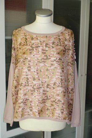 Org. LA PRESTIC OUISTON oversized Shirt/Pullover aus Seide mit Prints Gr.34-40