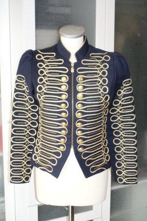 Org. LACONDESA Jacke mit goldenen Stickereien und Knöpfen Gr.36 NEU+Etikett