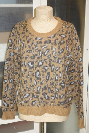 Org. LALA Berlin Woll-Pullover mit Leo Muster Gr.M