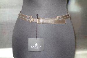 Lanvin Leather Belt green grey leather