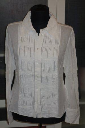 Org. LAUREL Bluse mit Drapierungen in creme/weiß Gr.38