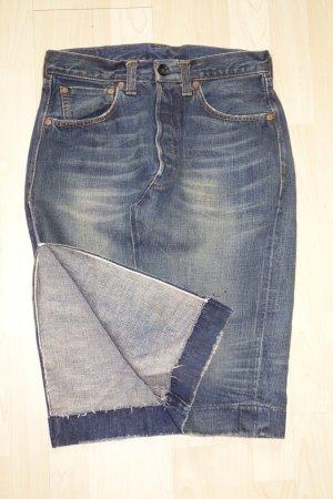 Org. LEVI'S highwaist Jeans-Rock  mit Seitenschlitz Gr.38