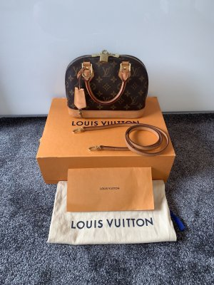 Louis Vuitton Borsa a spalla marrone-oro