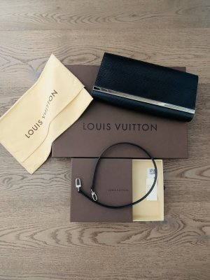 Louis Vuitton Clutch black-silver-colored leather