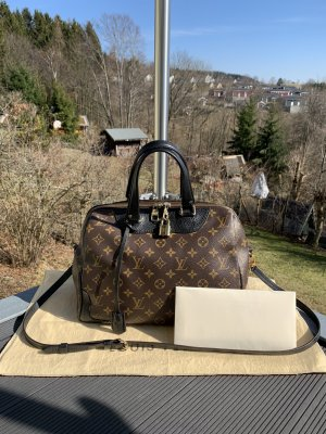 Louis Vuitton Bolsa de hombro marrón-negro
