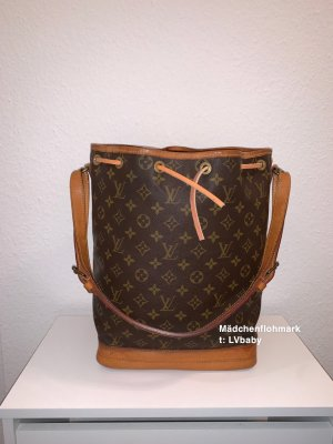 Louis Vuitton Bolsa de hombro marrón-color oro