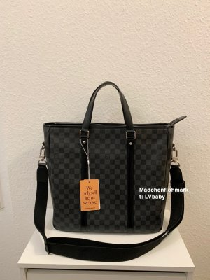 Louis Vuitton Handbag black-silver-colored