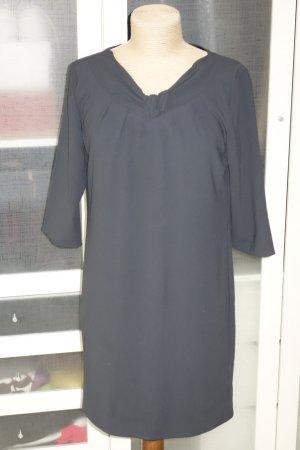 Org. LUISA CERANO Kleid in anthrazit mit Details Gr.36