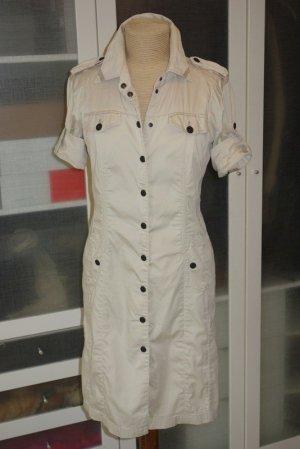 Marc Cain Shortsleeve Dress oatmeal cotton