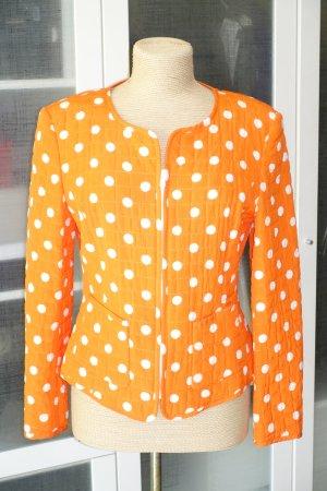 Org. MARISA Stepp-Jacke aus Seide mit Polka Dots Gr.38
