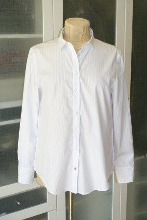 Org. MASSIMO DUTTI Bluse mit Streifen in weiß Gr.42
