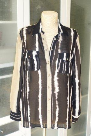 Org. MASSIMO DUTTI lässige Streifen-Bluse in Batik-Optik Gr.42