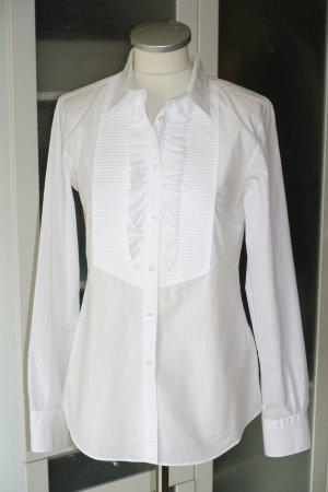 Org. MAURO GRIFONI Bluse mit kleinen Rüschen in weiß Gr.38 NEU