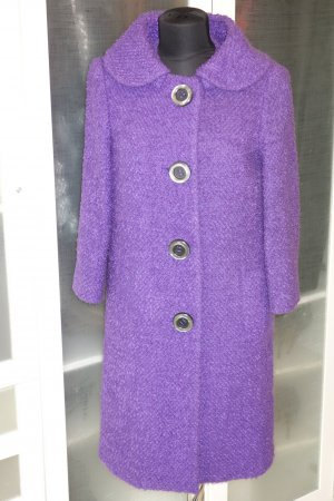 Org. MICHAEL KORS main line 2490€ Woll-Mantel 50s Look in violett Gr.36