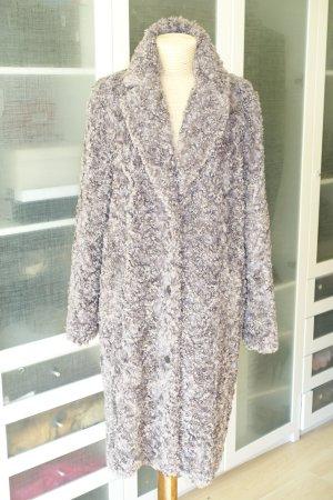 Org. MILESTONE fake fur Mantel in taupe Gr.40 wie neu