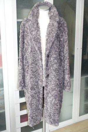 Milestone Fake Fur Coat grey brown