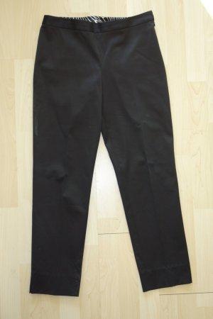 Org. MILLY Bundfalten-Hose aus Baumwolle in schwarz Gr.34