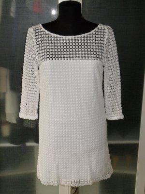 Org. MILLY New York Sommerkleid mit Häkeldetails weiss Gr. 36