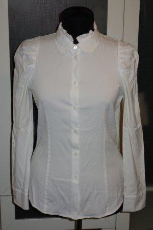 Org. MIU MIU Bluse in weiß mit drapierten Schultern Gr.34