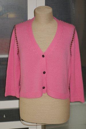 Miu Miu Veste en tricot rose-brun foncé cachemire