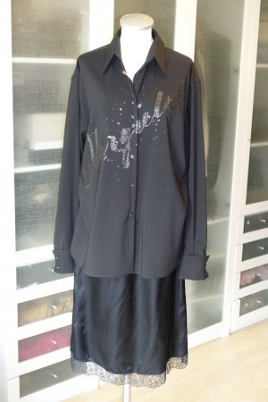 Org. MM6 Maison Margiela oversized Hemdkleid Bluse/Rock teilbar mit Print Gr.34-38 NEU+Etikett