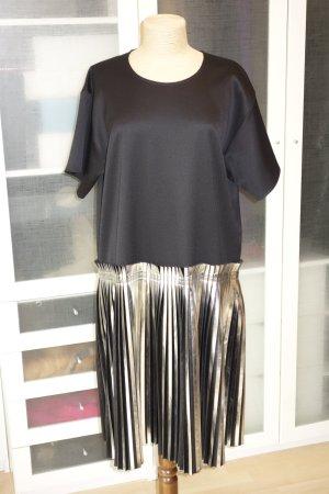 Org. MM6 Maison Margiela Runway Kleid mit Plissée Falten in silber metallic Gr.34-42